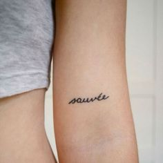 Sauvé is a French word for 'saved'. This tattoo is a symbol of freedom and escape . . . [It's] a mix of cultures and represents freshness! http://www.galknows.com/minimalist-tattoo-ideas/