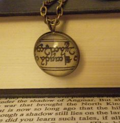 Elvish Script  The Lord of the Rings  by PermanentInkJewelry, $24.50