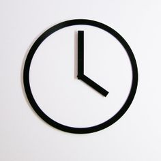 Clock by Air Frame - minimal design - product i love - black and white