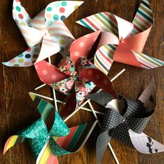 Double-sided pinwheels