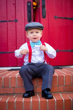 Hey, I found this really awesome Etsy listing at https://www.etsy.com/listing/165904012/red-suspender-set-turquoise-bow-tie-boys