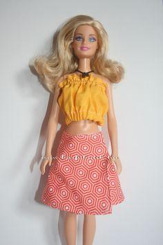 Barbie Lapszoknya ingyenes szabásmintával / Barbie skirt with pattern