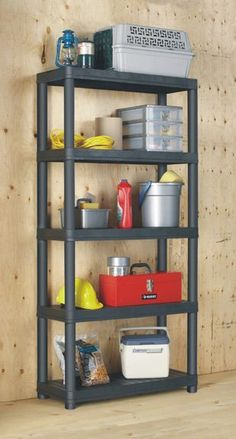 Central has a great product for any workspace: Resin Shelving. With a solid, high-quality design, this five-shelf plastic unit is ideal for a garage, basement, utility room, office, or shed. It won't rust, dent, stain or peel and it's easy to clean; no maintenance required! Pick it up at Central! #workshop #Resin #shelves