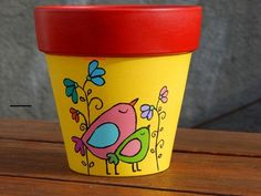 Flower Pot Art, Flower Pot Crafts, Clay Pot Crafts, Painted Plant Pots, Painted Flower Pots, Pots D'argile, Clay Pots, Pottery Painting Designs, Flower Pot People
