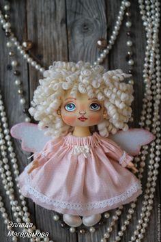 Купить Интерьерная текстильная кукла Ангел Мила. - интерьерная кукла, текстильная кукла, кукла интерьерная
