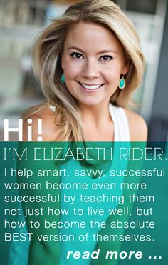Want to work with me? Learn all about my partner program here and become the best leader you can be http://www.elizabethrider.com/partner/