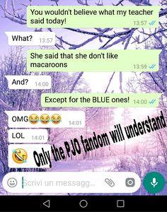 OMG she could be Percy! #percyjackson #pjo #bluefood