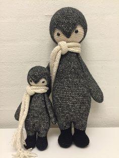 Lalylala penguin modified by Iben J. / crochet pattern by lalylalal