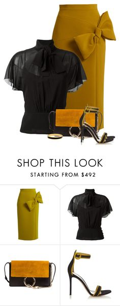 """""""Untitled #6017"""" by barbarapoole ❤ liked on Polyvore featuring Roksanda, RED Valentino, Chloé, Gianvito Rossi and Halcyon Days"""