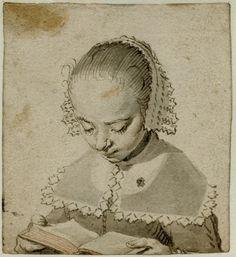 Girl reading, circa 1630-1635 -  Gerard ter Borch the Elder (Dutch, 1583-1662)