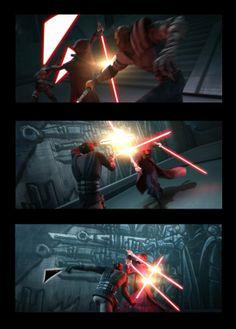 Darth Sidious vs Darth Maul & Savage