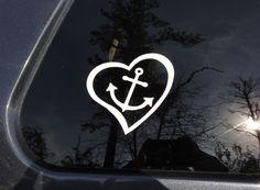 Anchor Love car sticker