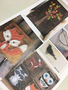 Textiles, String Art, Art School, Arts And Crafts, Gift Wrapping, Creative, Wood, Barn, Diy
