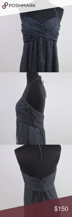 Amsale Pewter/Lace Dress Size 8 NWT New With Tags Amsale Dresses Maxi