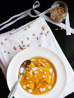 Velouté de butternut et lait de coco