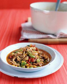Chicken, Corn, and Lima-Bean Stew Recipe
