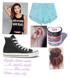 """Untitled #208"" by trinity-taylor-1 ❤ liked on Polyvore featuring Wet Seal, Converse and Manic Panic"
