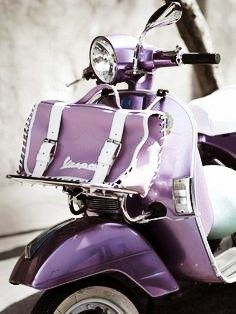 Purple vespa | Very cool photo blog