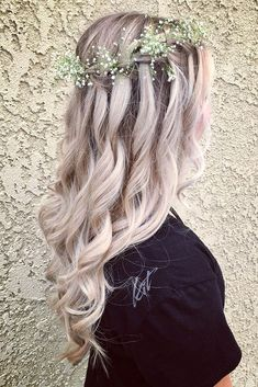 36 Pinterest Wedding Hairstyles For Your Unforgettable Wedding ❤️ pinterest wedding hairstyles waterfall braid decorated with baby breath hair_and_lifestylez via instagram ❤️ See more: http://www.weddingforward.com/pinterest-wedding-hairstyles/ #weddingforward #wedding #bride #weddingupdo #bridalhairstyles #pinterestweddinghairstyles