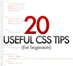 20 Useful CSS Tips For Beginners | #CSS #Webdesign  | At B&L Custom Computers, Riverdale UT, we use only the best for your computer, & pride ourselves in providing personalized service and support. If Your Computer Won't Behave… Just Call Dave, at (801) 737-9600 or visit http://www.blcomputers.com!
