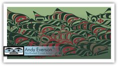 Andy Everson is a Northwest Coast Artist from Comox BC specializing in contemporary and traditional limited edition Native prints. Native American Artifacts, Native American Indians, Haida Art, Canadian Art, American Indian Art, Coastal Art, Native Art, Wildlife Art, First Nations