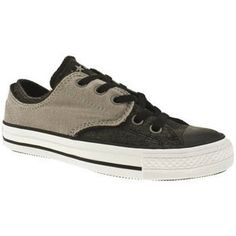 Ladies black and grey converse shoes