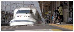 Shinkansen Bullet Train at Himeji Railway Station, Himeji – Japan by AmnesiArt
