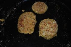 How to make veggie burgers from leftover soup!