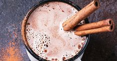 Ditch the packaged mixes for this healthy spiced hot chocolate recipe.