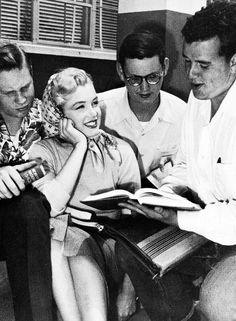 Marilyn Monroe visiting Van Nuys High School (she was a student there in 1941-1942) © Earl Theisen, 1951.
