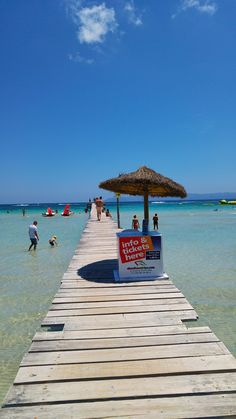 Einer der Stege an der Playa de Muro. Für uns einer der schönsten Strände auf Mallorca.