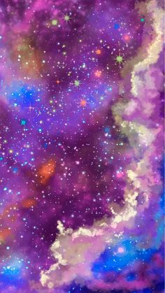 Purple galaxy Art Print by Caroline Krzykowiak - X-Small Android Wallpaper Hd Nature, Glitter Phone Wallpaper, Galaxy Wallpaper Iphone, Angel Wallpaper, Star Wallpaper, Purple Wallpaper, Colorful Wallpaper, Nature Wallpaper, Cool Wallpaper