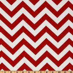 Premier Prints ZigZag Lipstick/White - Discount Designer Fabric - Fabric.com