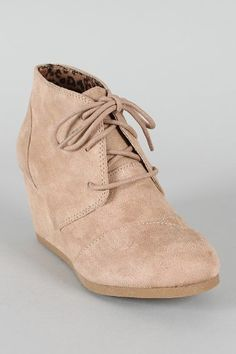 d9e39fcfcd3 REX Designer toms Inspired Stitch Detail Lace Up Ankle Bootie Wedge Taupe  (US 11)