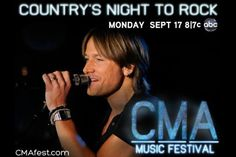 @Keith Urban Country's Night to Rock CMA Fest ❤ I was blessed with winning a spot for LIVE taping in Nashville for Keith's performance ❤ AWESOME DAY ❤