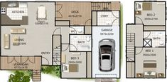 hamptons style Narrow 3 Bed Townhouse Design:146DU