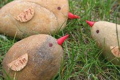 Kifli és levendula: Madárkák kőből Minion, Potatoes, Vegetables, Food, Potato, Essen, Minions, Vegetable Recipes, Meals