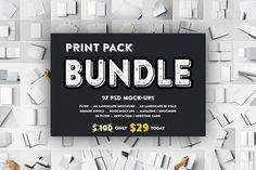 Print Pack BUNDLE Mockups V.1 by Kongkow on @creativemarket
