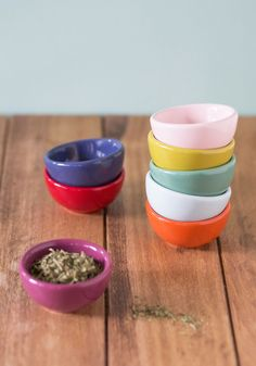 Pinch Your Luck Finger Bowl Set. Set out all the spices needed for your holiday menu, letting these colorful finger bowls line your counter in loveliness. #multi #wedding #modcloth