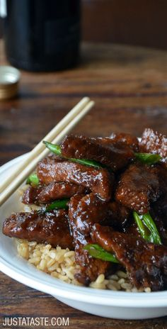 30-Minute Mongolian Beef #recipe from justataste.com