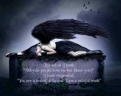 Dark fallen angel. Death dying