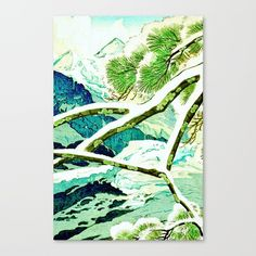 This link is an affilate link! Check out society6curated.com for more! @society6 #illustration #wall #apartment #decor #homedecor #buy #shop #sale #drawing #canvas #artprint #shopping #apartmentgoals #sophomoreyear #sophomore #year #college #student #home #house #gift #idea #art #japan #japanese #japaneseart #landscape #nature #beauty #beautiful #color #colors #landscapeart #digital #painting #drawing #buyart #artforsale #green