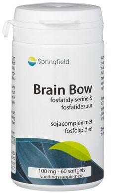 Springfield Nutraceuticals Brain Bow fosfatidylserine 60 softgels - Phosphatidylserine (PS) speelt een belangrijke rol in de gezondheid van de hersenen, zenuw-, cel-, en immuunfunctie. PS is een fosfolipide en komt in hoge concentraties voor in de hersencellen. Met een enzymatische bewerking van soja wordt de PS in geconcentreerde vorm verkregen. Phosphatidylserine: * is goed voor het geheugen en concentratievermogen * kan helpen om beter te reageren bij spanning en inspanning * heeft een…