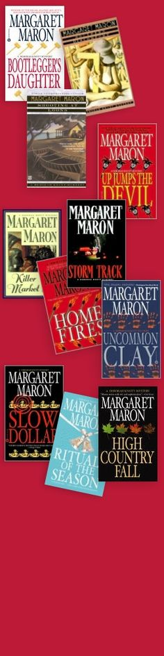 Margaret Maron books  Another GREAT North Carolina author. Wow, how could I just now be discovering her? If you want REAL people in Real situations and not just a story plot but daily lives as well, then you MUST read Margaret Maron.