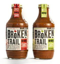 bbq sauce label design