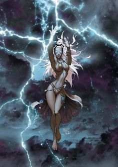 Storm by Michael Turner. I feel like I just struck gold. Michael Turner is my favorite comic book artist. Marvel Comics, Marvel Vs, Storm Marvel, Marvel Women, Bd Comics, Comics Girls, Marvel Heroes, Storm Comic, Storm Xmen