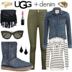 UGG + Denim by englinsfinefootwear on Polyvore featuring Paige Denim, Boohoo, UGG, Etro, Bling Jewelry, Kendra Scott, Victoria Beckham, MAC Cosmetics, UGG Australia and denim