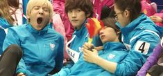 I know they play up the mom/dad/twins/baby thing... but seriously, cute. B1A4. #gif