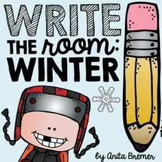 Write The Room Winter Pack Your Students Will Have Fun Expanding Their Vocabulary, Practicing Their Handwriting Skills, And Matching Numbers. A Fun Writing Literacy Activity. Ideal For A Kindergarten Or First Grade Writing Center. Kindergarten Writing Activities, 1st Grade Activities, Kindergarten Freebies, Kindergarten Activities, Winter Activities, Teaching Ideas, 1st Grade Writing, Cool Writing, Classroom Ideas