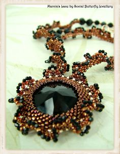 Beadwork Tutorial  Marcia's Lace Necklace by MIDesign on Etsy, $4.50